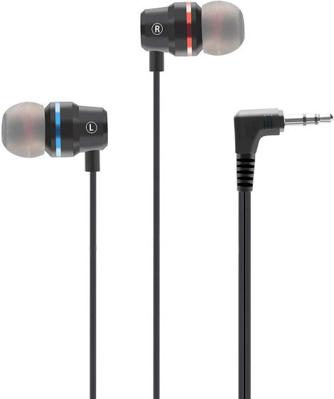 Stereo Super Bass Earbuds in-Ear Headphones Custom Made for Oculus Quest 2 & Oculus Rift S-Short Wire Audio Cable, L/R Channels Separate, Noise-Isolation