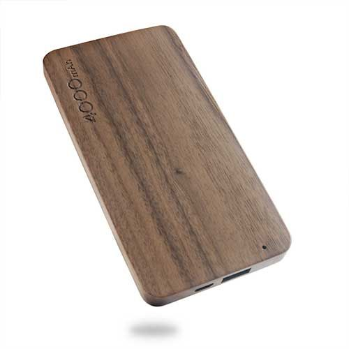 4000mAh wooden mobile power supply