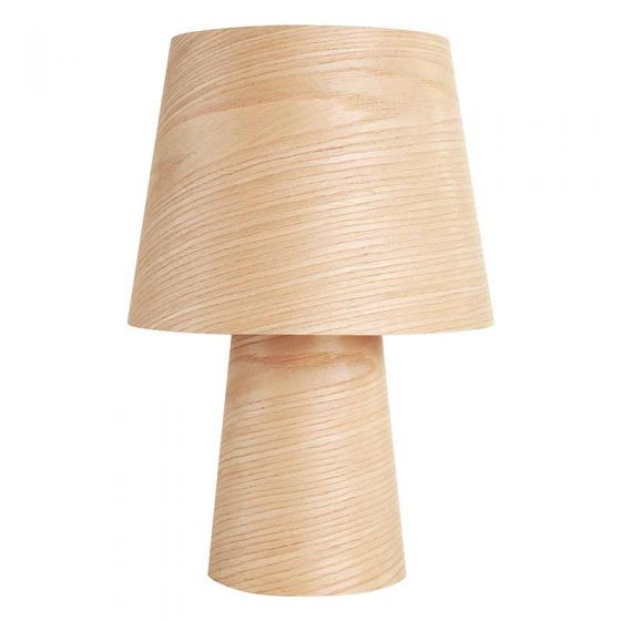 Wood Table Lamp,Solid Desk Lamp for Living Room,Bedroom(Round)