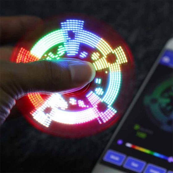 New Version Bluetooth 4.0 LED Flash Words Spinner,  Support for DIY Patterns & Words, Create Your Own Pictures !