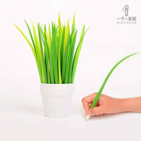 grass vase style pen and bottle support printing custom logo / words