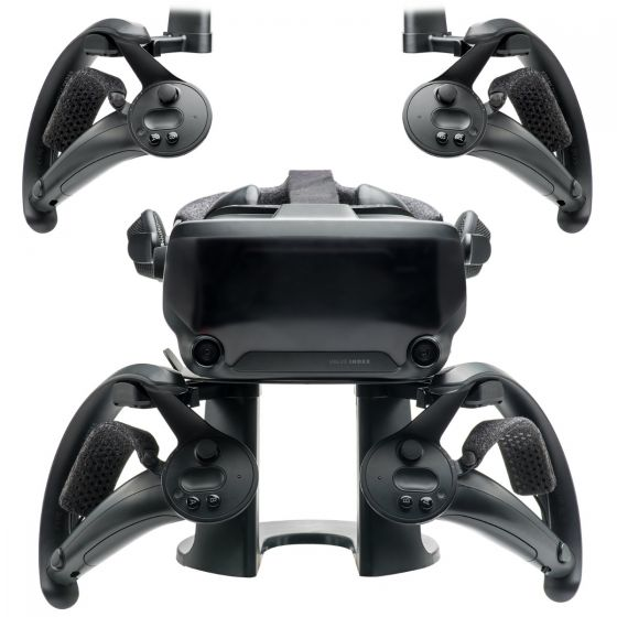 VR Stand Headset Display Mount Station and Controller Holder for  Valve Index Virtual Reality Gaming System