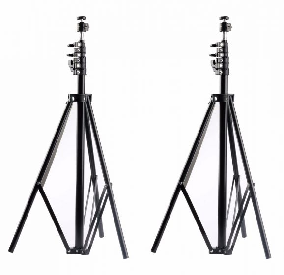 New Version 2 Packs 102 inches Adjustable Light Stands with 1/4 Tripod Mini Ball Head for HTC ViVE Base Station