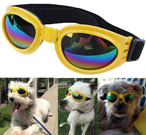Dog Goggles Eye Wear Protection Waterproof Pet Sunglasses for Dogs about over 15 lbs