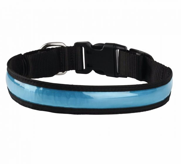 USB Rechargeable LED Dog Safety Collar-3 Mode Flashing Light- Connects to Devices to Recharge