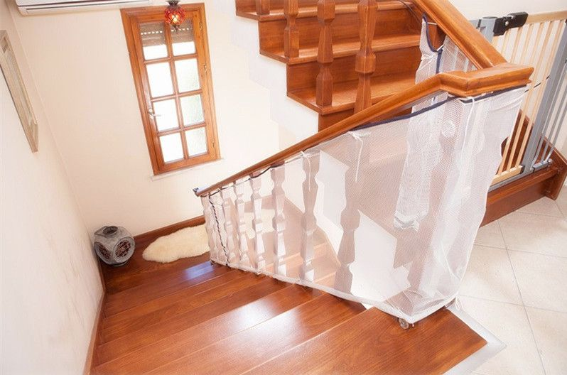 ... 3M Whtie Stair Safety Net Safe Rail For Stairway Indoor Thickened  Balcony Banister Patio Mesh Net ...