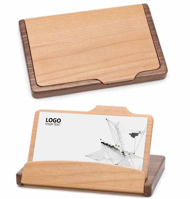 Nature Bamboo Business Card Holder, Case, Name Card Holder