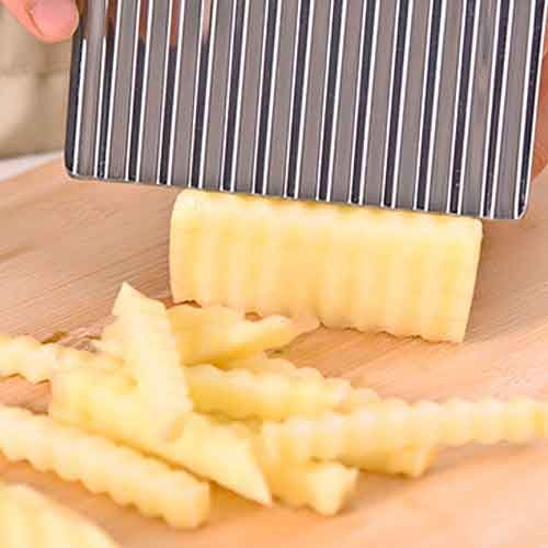 crinkle cut knife potato and vegetable cutter stainless steel