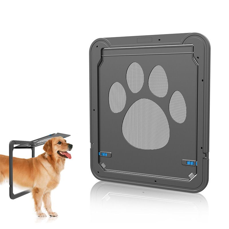 Dog door screen door cat screen door protector for for Automatic locking dog door