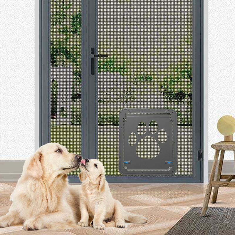 Dog Door Screen Door Cat Screen Door Protector for Sliding Door Automatic Lock/Lockable & Dog Door Screen Door Cat Screen Door Protector for Sliding Door ... Pezcame.Com