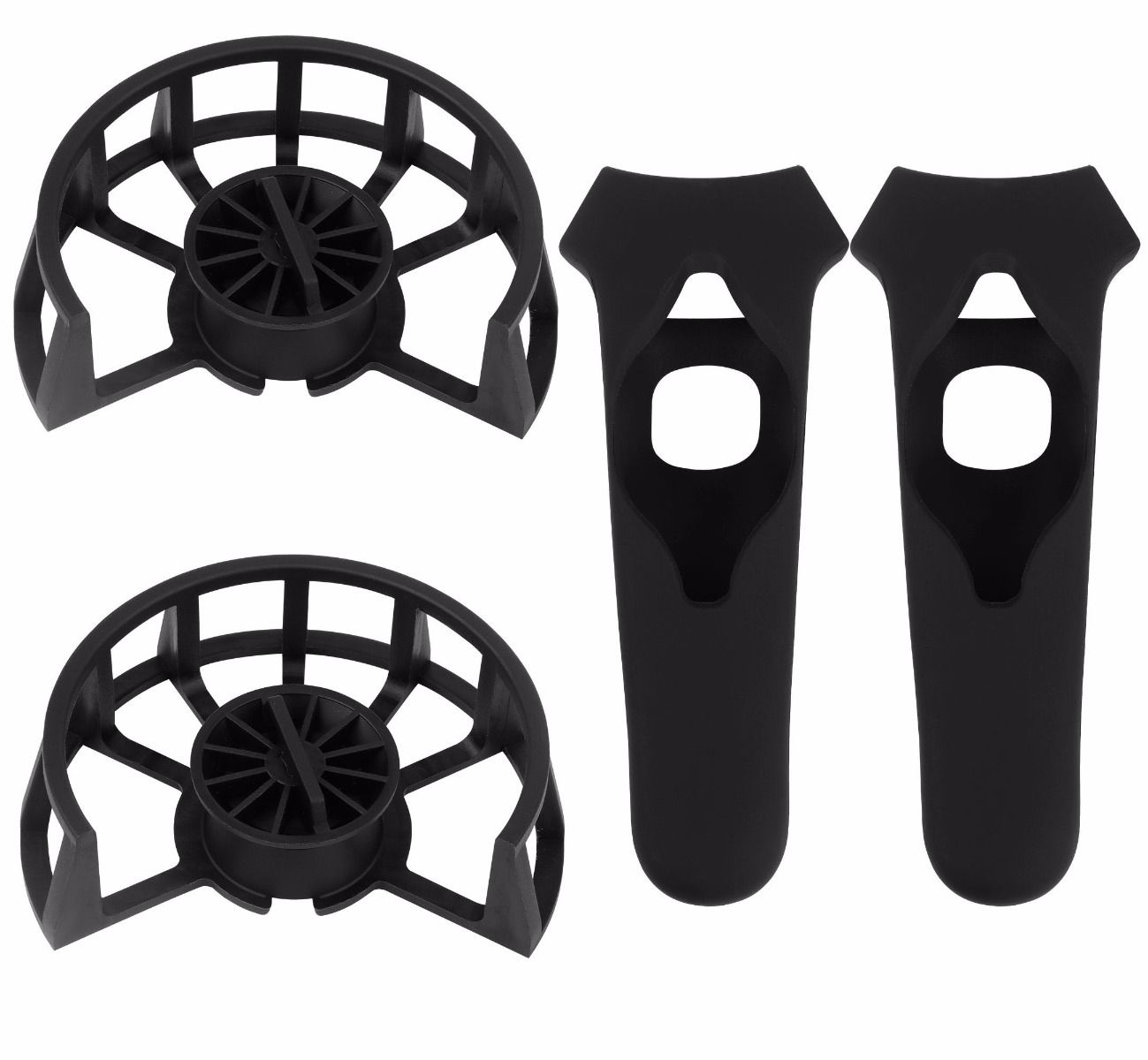 2 Pack Updated Version Protective Frame and Silicon Protective Case for HTC  VIVE Controllers