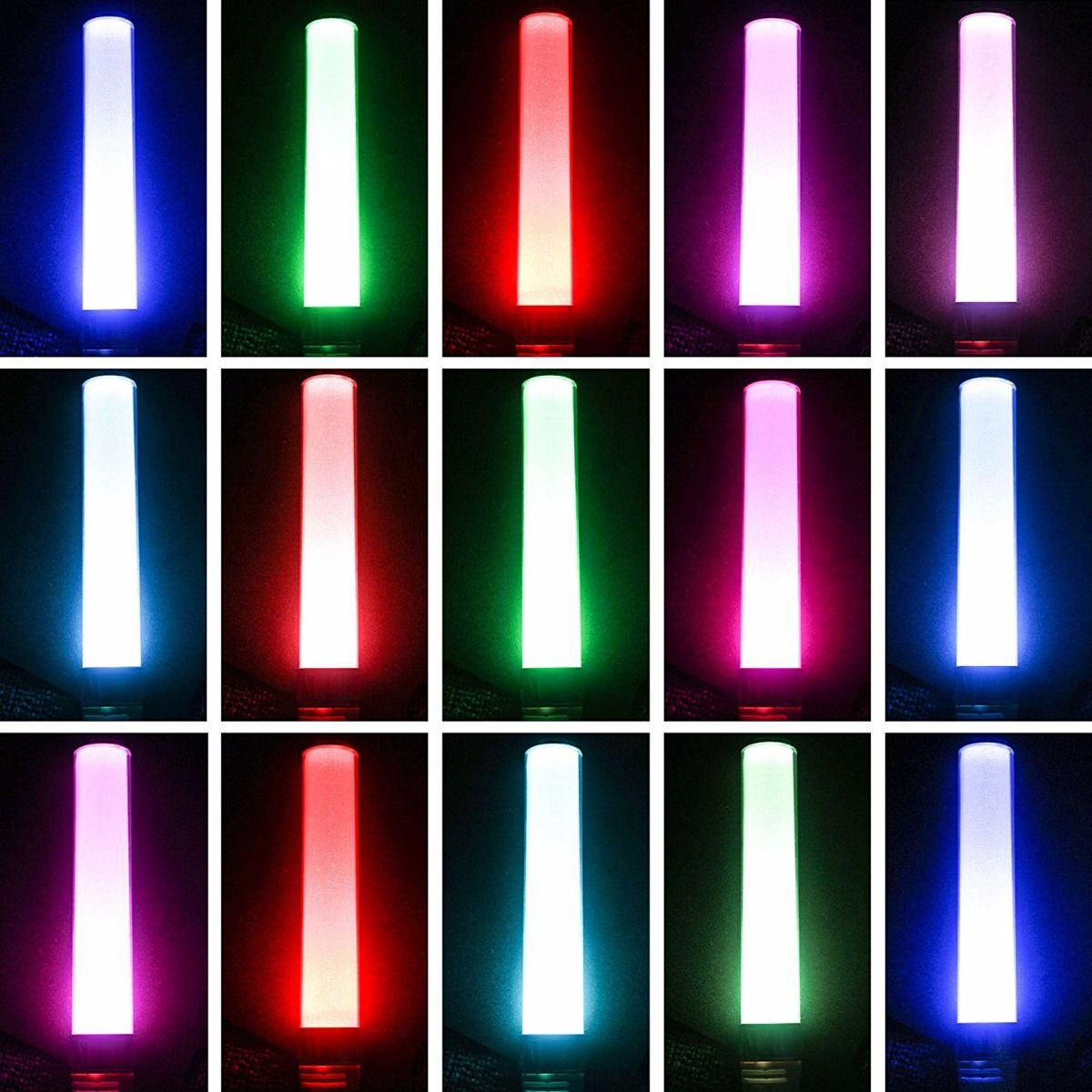 glow stick new vision 15 colors changing in the dark multi color night light for concert party bars christmas pack of 2