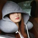 Hoodie Neck Pillow, Travel Neck Pillow,U-shaped Memory Foam for Car/Airplane/Bus/Train/Lunch break