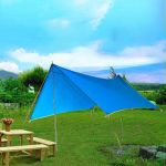 Outdoor Canopy,UV Protector,Water Resistant Fabric Outdoor Shed(9.8 * 9.7Ft)