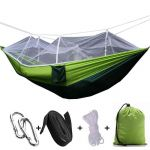Hammock with Mosquito Net,Parachute Fabric Hammock Net,Durable and Portable