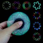 New Style LED Spinner On Hand, Kaleidoscope Spinner Spin Out Dozens of Amazing Colorful Patterns