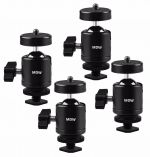 4 Pcs 1/4 Tripod Mini Ball head With Hot Shoe Adapter for HTC VIVE Tracker ,for Camera