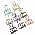 8 Pcs Wire Binder Clips for Office, Mini Size, Assorted Colors With A Transparent Plastic Box
