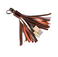 USB Leather Tassel  Keychain Charging Cable,Portable Micro USB Cable for Android Devices