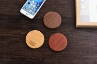 New bamboo wood wireless charger creative log charger android phone and other devices charge