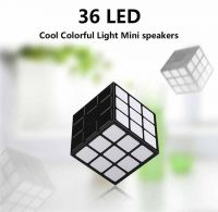 36 LEDs Cube Portable Bluetooth 4.0 Speakers,Colorful Flashing Light - 7 Colors