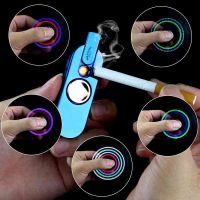 New USB Rechargeable Spinner With Electronic Cigarette Lighter and LED Anti-Anxiety Stress Reducer Toys