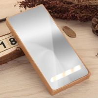10000mAh Ultra Wooden Powerbank, Multifunction Charger with Flashlight,LED Mirror,Mobile phone holder