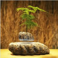 Japanese style Stone Levitating Air Bonsai Pot - Magnetic Levitation Suspension flower-Only including the flower pot