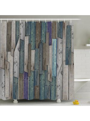 Fashional Countryside Style Bath Shower Curtain,Rustic Decor Barns House -70.86×70.86 Inch