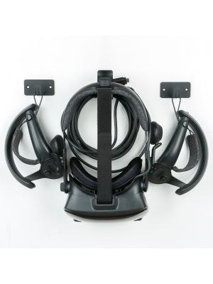 Updated Wall Mount Stand and Organizer for Oculus Quest & Oculus Rift S & Samsung HMD Odyssey+ Headset