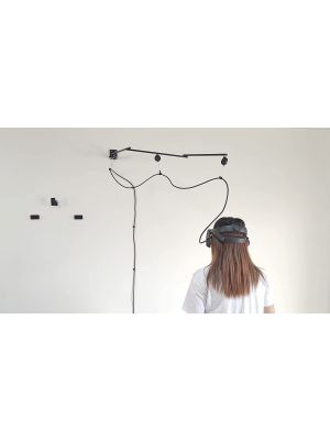 Premium Pro Version VR Walking Cable Management System Free Rotating Bracket - Improved Comfortability - Designed by VR Gamer for VR Gamer-Drill Required- Watch Install Guide First