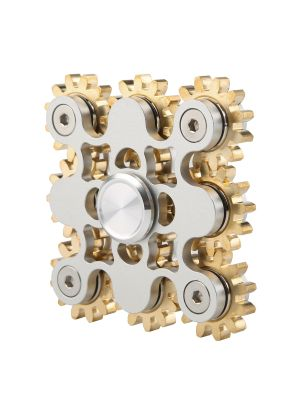 Super Cool 9 Bearing Gear Linkage  Spinner Toy, Cu-Zn Alloy with Metal Bearing ADHD Focus Anxiety Relief Toys