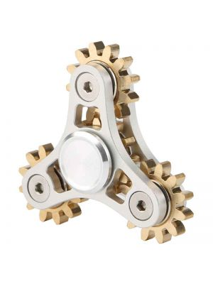 4 Bearing Gear Linkage Spinner Toy, Cu-Zn Alloy with Metal Bearing ADHD Focus Anxiety Relief Toys