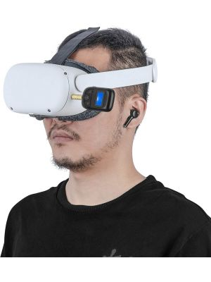 Low Latency Bluetooth Adapter and Earphones Kit for Oculus Quest 2 - Be Sure to Press Right Earphone for 3 Seconds to Switch from Music Mode to Low Latency Gaming Mode