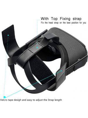 Head Strap for Oculus Quest/Oculus Rift S Virtual Reality VR Headset,Very Soft and Comfortable PU Leather to Reduce Head Pressure (Black)