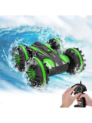 Toy Cars for 6-12 Year Old Boys Girls Amphibious RC Car 2.4 GHz Remote Control Boat Waterproof RC Monster Truck Stunt Cars 4WD RC Vehicle All Terrain Water Beach Pool Christmas Birthday Gifts