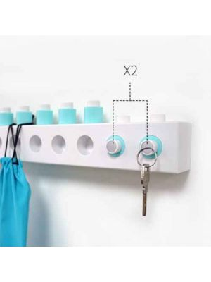 Building Blocks Wall Hooks DIY Multifunction Stick on Self Adhesive Wall Mounted Hanger for Key Hat Coat Handbag Storage Organizer