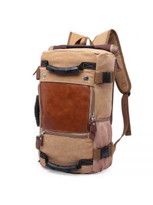 Men's Vintage Canvas Backpack Large Capacity Canvas Backpack Multi-Functional Bag Outdoor Travel Backpack