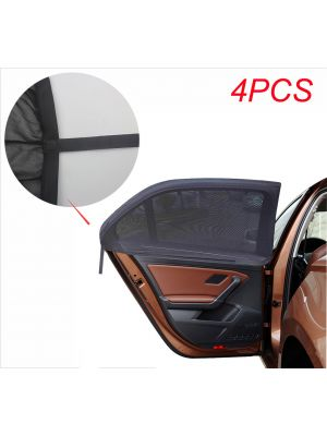 4 Pcs Improved Version Adjustable Universal Fit Car Side Window Shade Baby Sun Shade,Fits Most Cars and SUV