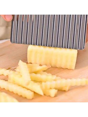 Crinkle Cut Knife, Potato and Vegetable Cutter, Stainless Steel, French Fry Slicer, Waves Crinkle Cutter, Kitchen Supplies