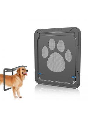 Dog Door Screen Door, Cat Screen Door Protector for Sliding Door, Automatic Lock/Lockable