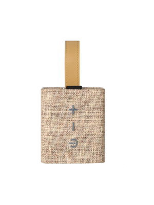 Portable Bluetooth Speaker, Indoor & Outdoor Hi-Fi Speaker with Cloth Fabric Exterior and Leather Strap