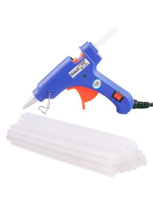 20W Mini Hot Melt Glue Gun With 30 Pieces Glue Sticks For DIY Art Craft, Sealing, Quick Repairing