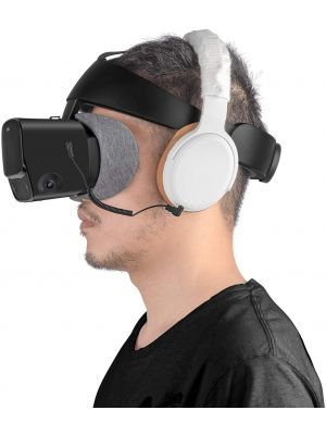 Stereo VR Headphones Custom Made for Oculus Quest 2 - Short Elastic Cable Comfortable Pad and Cover