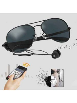 Polarized Sport Sunglasses with Bluetooth 4.1 Wireless Headsets, 9-Level Noise Canceling for Men/Women