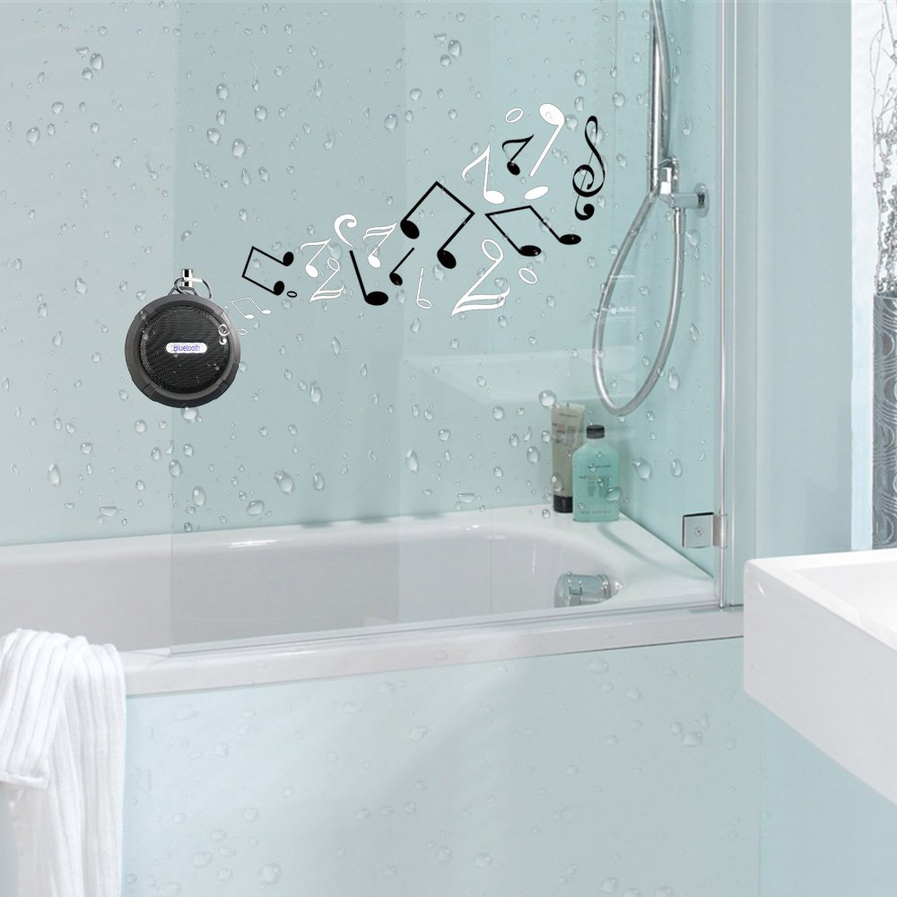 In wall bathroom speakers - Impressive Friendly Design Detachable Suction And Aluminum Alloy Metal Hook Offer You Convenience To Hang And Attach It To Anywhere You Want