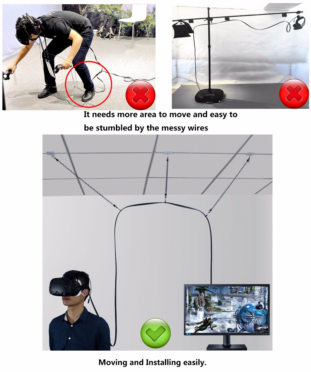 VR Cable Management System for HTC VIVE Virtual Reality Headset- No ...